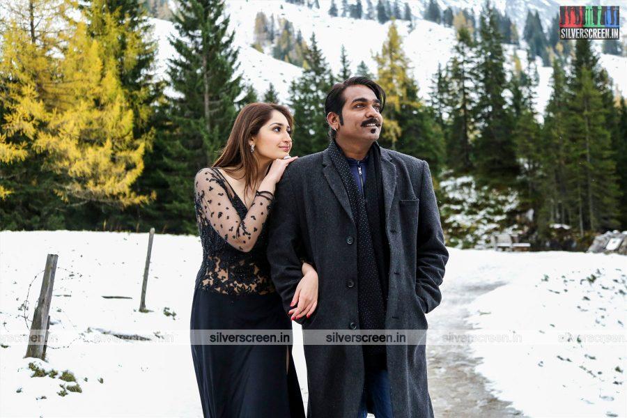 Junga Movie Stills Starring Vijay Sethupathi, Sayesha Saigal, And Others