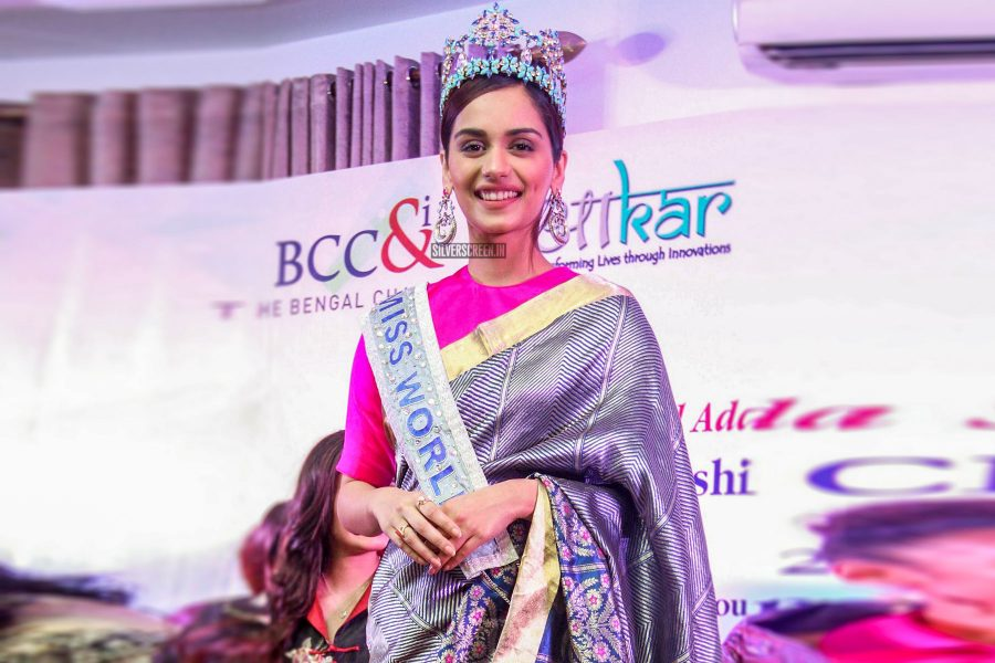 Miss World 2017 Manushi Chhillar At An Event In Kolkata