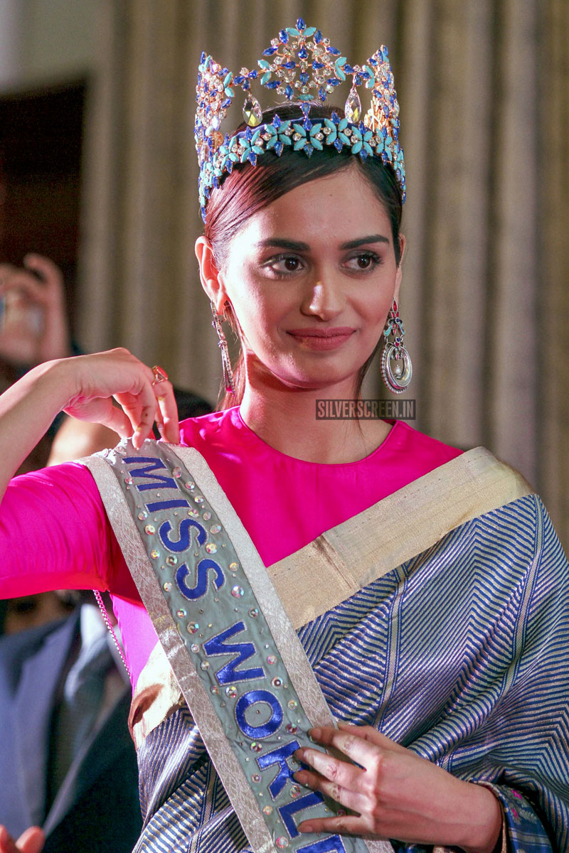 Miss World 2017 Manushi Chhillar At An Event In Kolkata