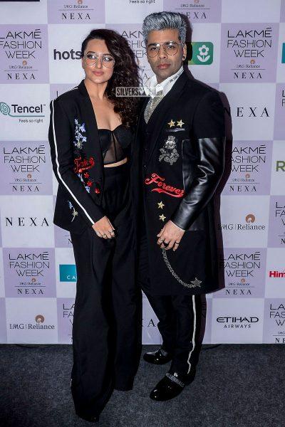 Sonakshi Sinha, Karan Johar At The Lakme Fashion Week