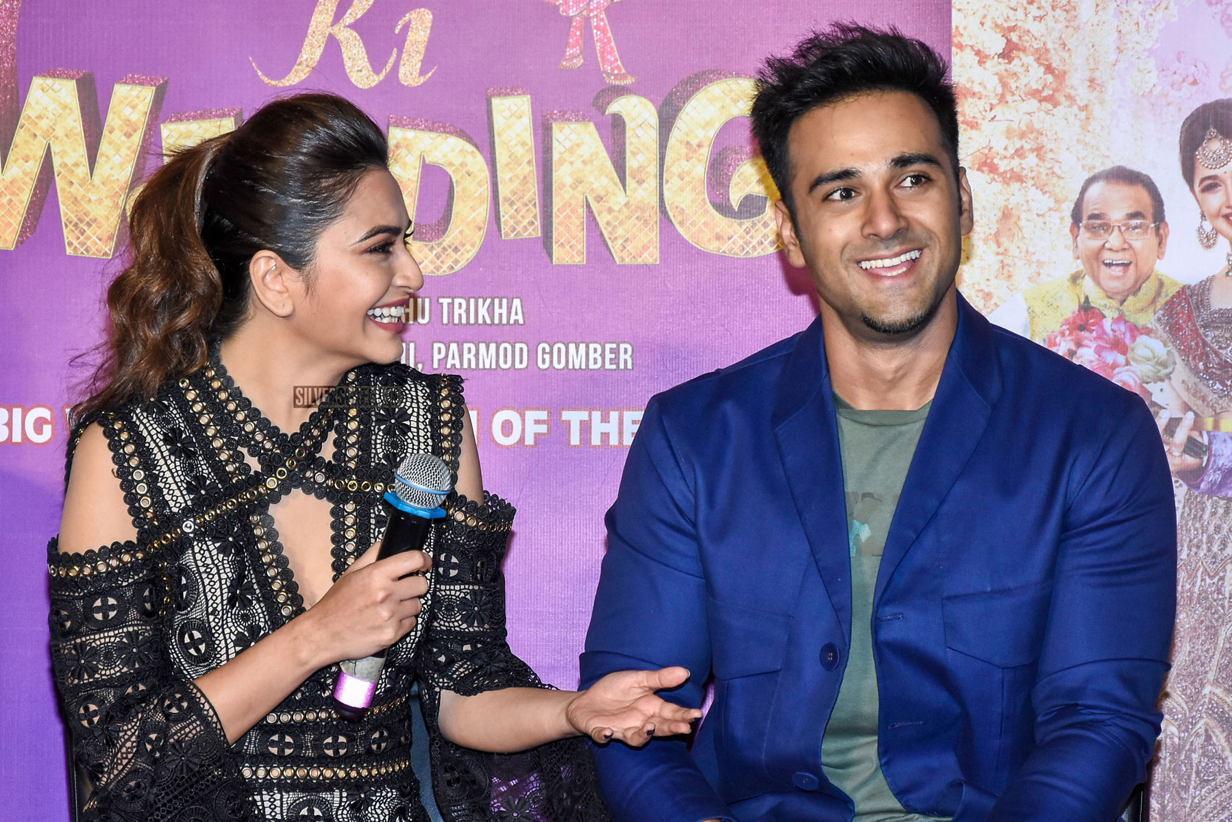 Veerey Ki Wedding.Pulkit Samrat Kriti Kharbanda At The Trailer Launch Of Veerey Ki