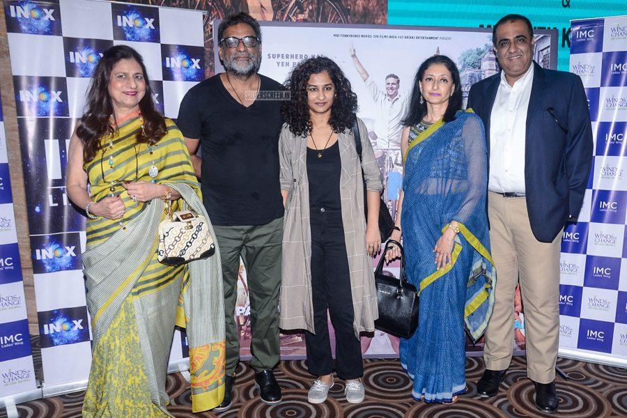 R Balki, Gauri Shinde, Kriti Sanon, Ayushmann Khurrana At The Screening Of PadMan