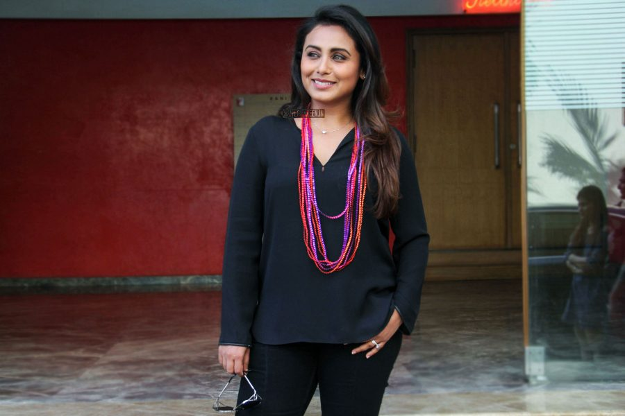 Rani Mukerji During The Promotions Of Hichki