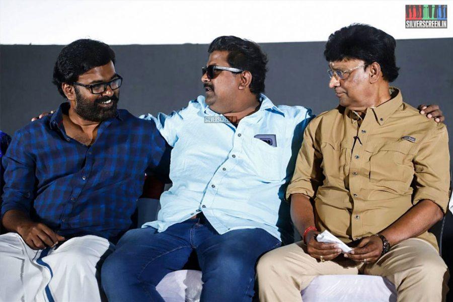 K Bhagyaraj, Mysskin and Karu Pazhaniappan At The Natpuna Ennanu Theriyuma Audio Launch