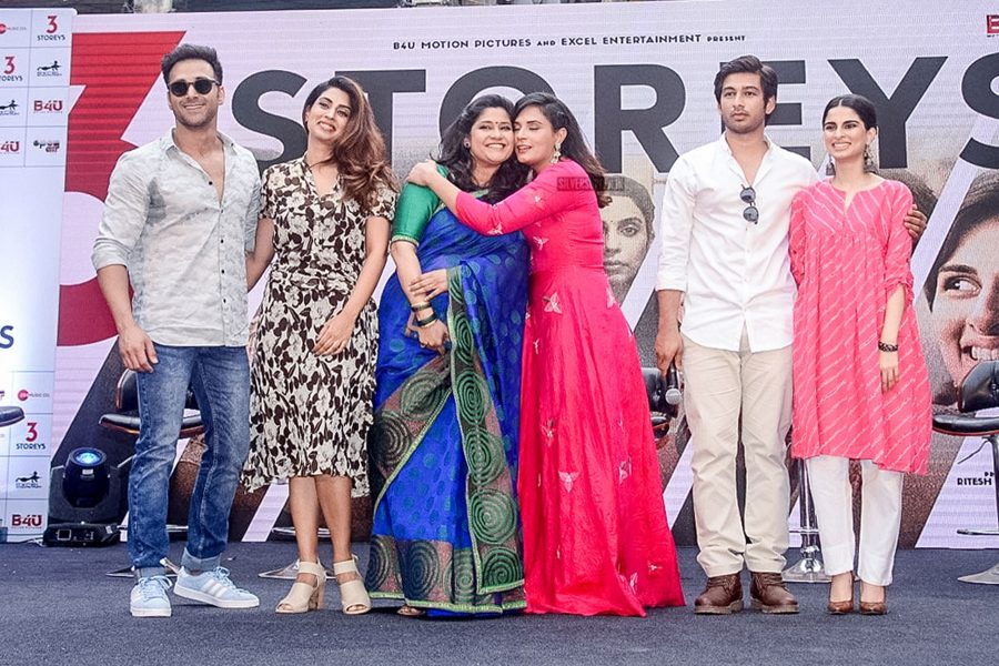 Renuka Shahane, Pulkit Samrat, Richa Chadda At The Trailer Launch Of 3 Storeys