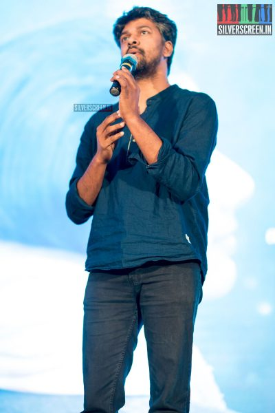 Madhan Karky At The Karu Audio Launch