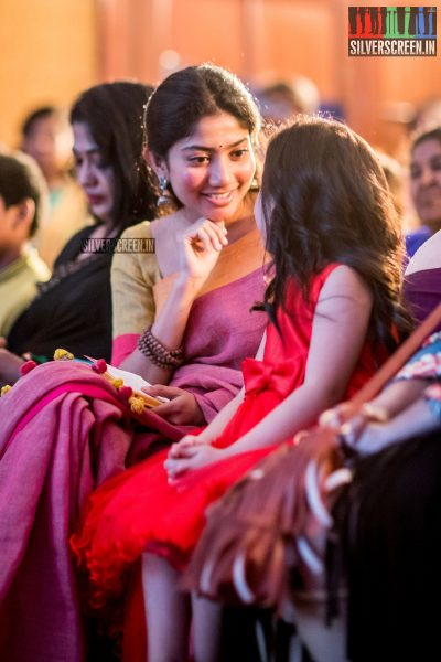 Sai Pallavi And Baby Veronika Arora At The Karu Audio Launch