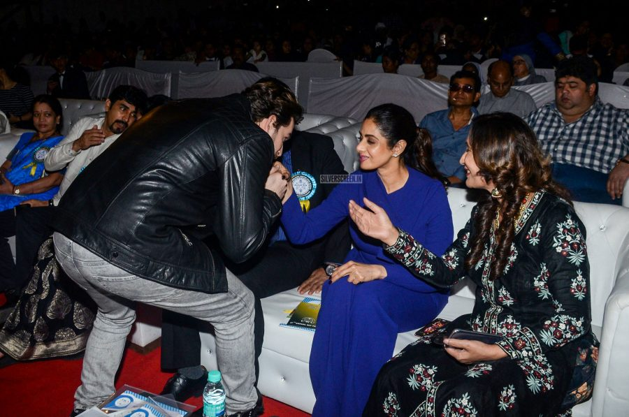 Neil Nitin Mukesh and Sridevi At The CWC School Event