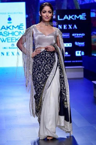 Yami Gautam Walks For Manish Malhotra At Lakme Fashion Week