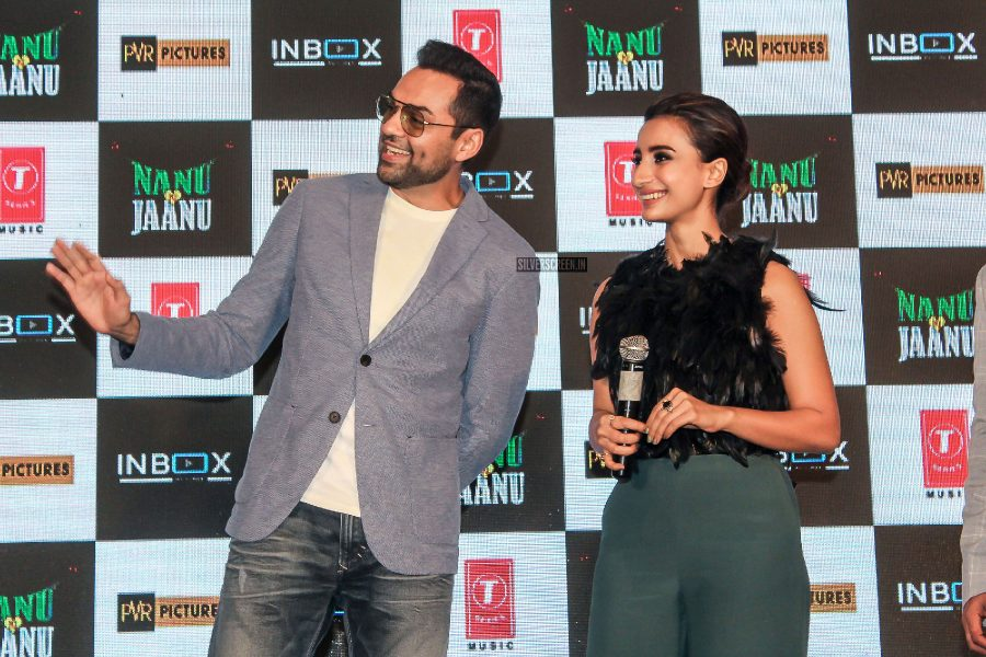 Abhay Deol, Patralekhaa At The Trailer Launch Of Nanu Ki Jaanu