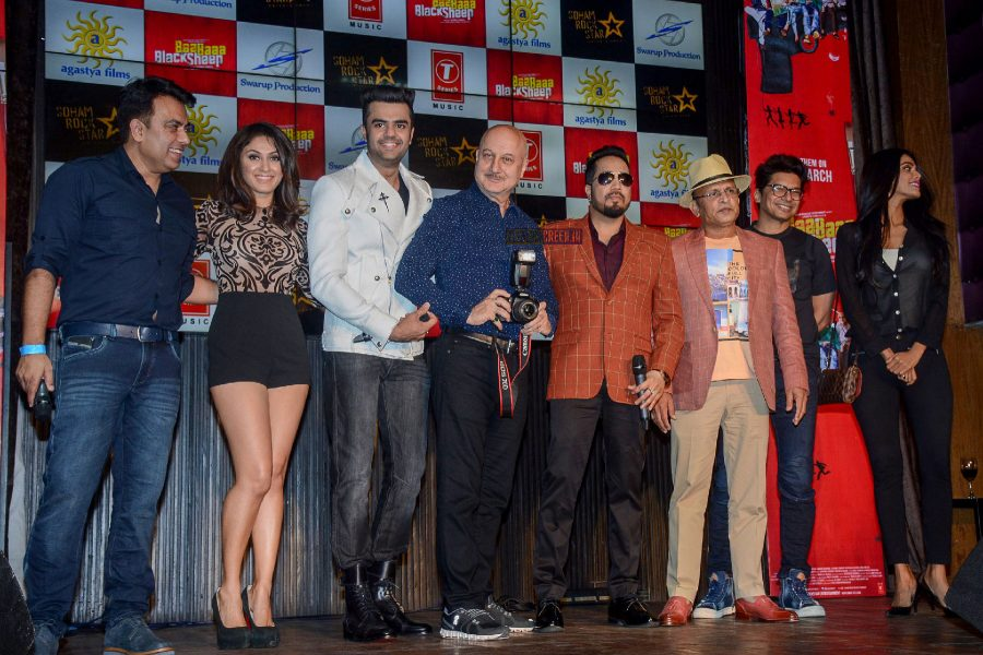 Anupam Kher, Annu Kapoor, Manish Paul At 'Baba Black Sheep's' Song Launch