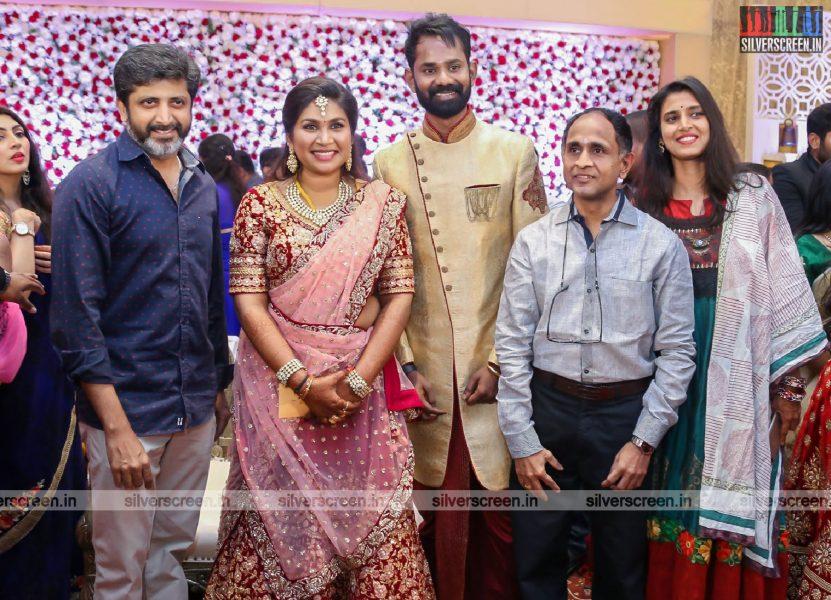 Celebrities At Ramesh Thilak-Navalakshmi Wedding Reception
