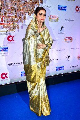 Rekha At The Hello Hall Of Fame Awards