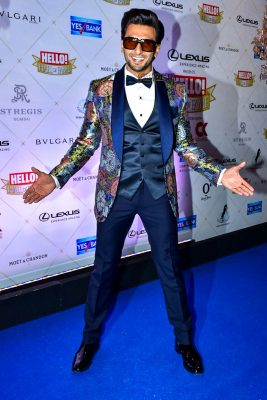 Ranveer Singh At The Hello Hall Of Fame Awards