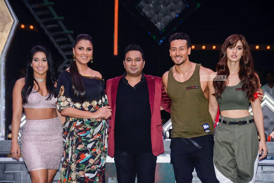 Disha Patani, Tiger Shroff With Lara Dutta On The Sets Of 'High Fever Dance Ka Naya Tevar'