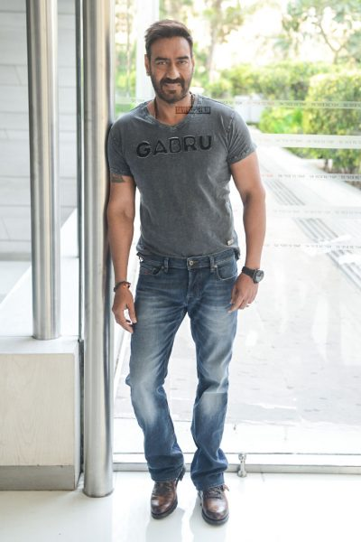 Ajay Devgn During The Promotions Of Raid
