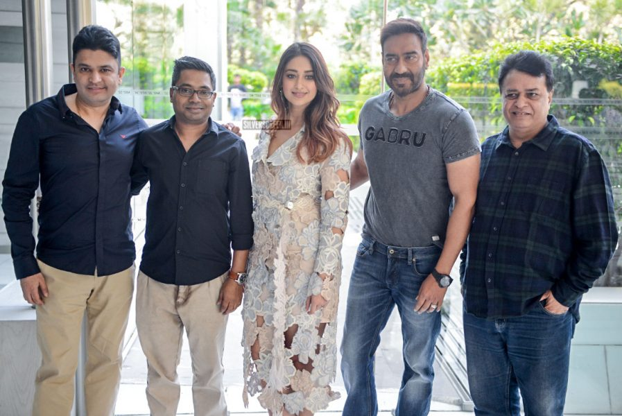 Ileana D'Cruz, Ajay Devgn During The Promotions Of Raid