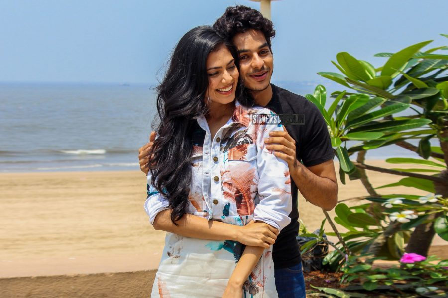 Ishaan Khatter And Malavika Mohanan During The Promotions Of Beyond The Clouds