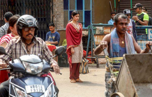 Janhvi Kapoor On The Sets Of Dhadak In Kolkata