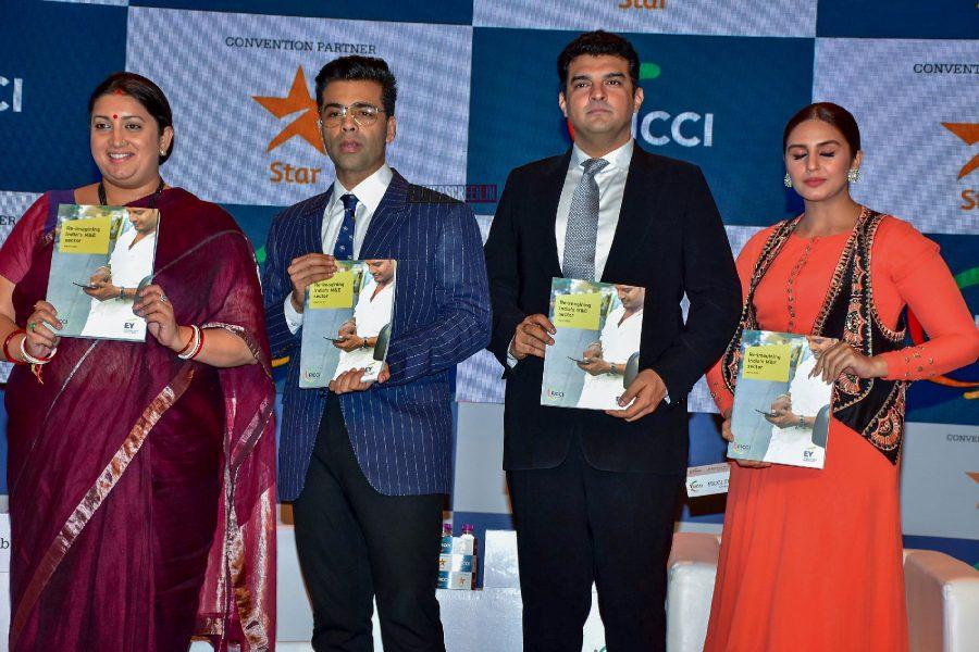 Karan Johar, Prasoon Joshi, Huma Qureshi At FICCI Frames 2018
