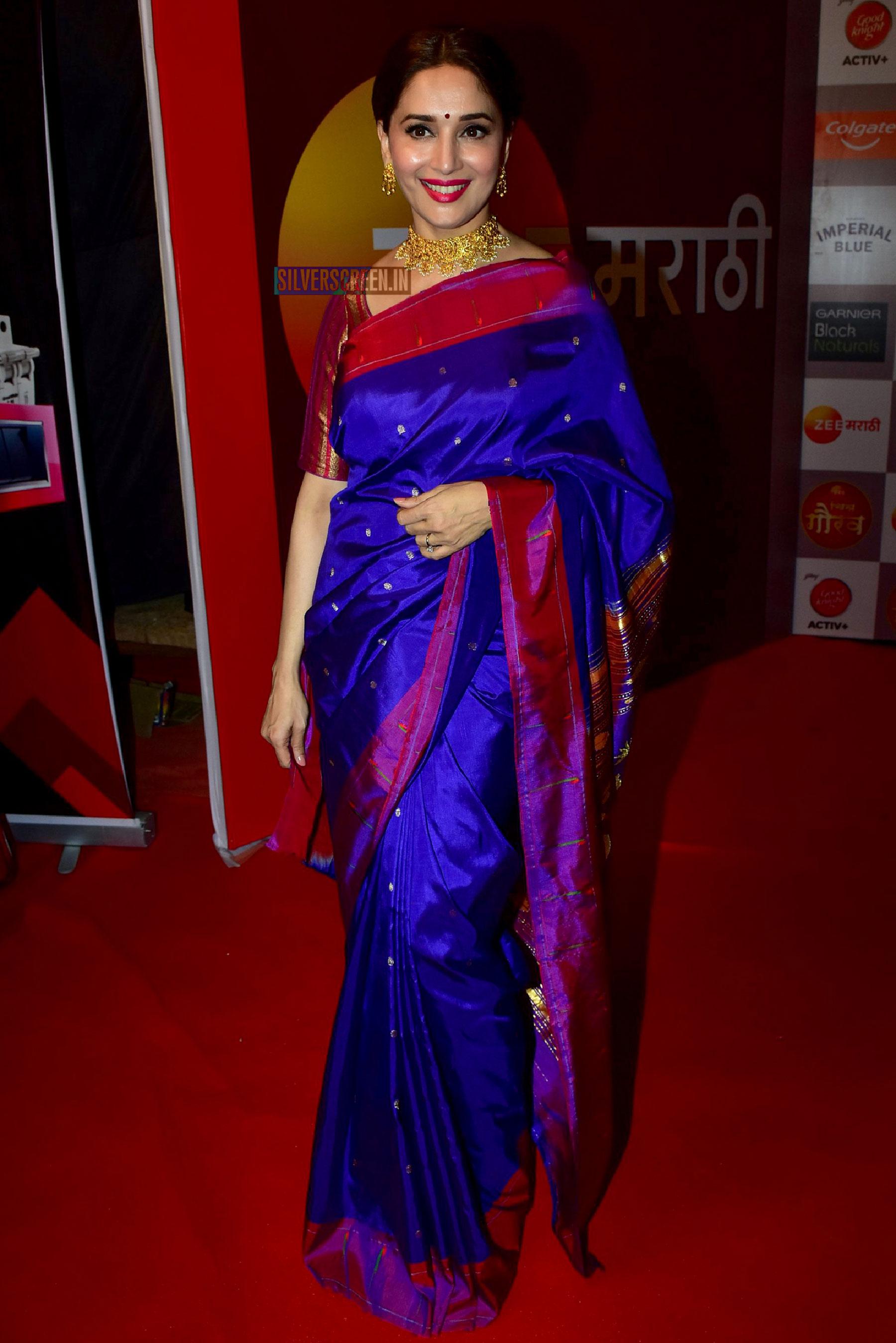 madhuri dixit jackie shroff sonali kulkarni zee chitra gaurav awards silverscreenin