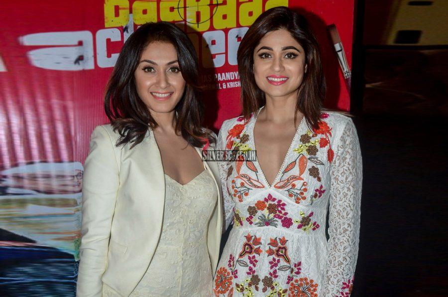 Manjari Phadnis and Shamita Shetty At The Premiere Of Baa Baaa Black Sheep