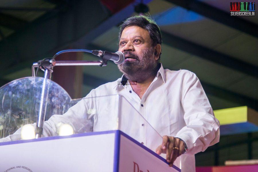 P Vasu At The Inauguration of MGR Statue