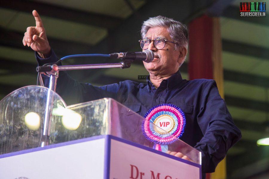 SA Chandrasekhar At The Inauguration of MGR Statue