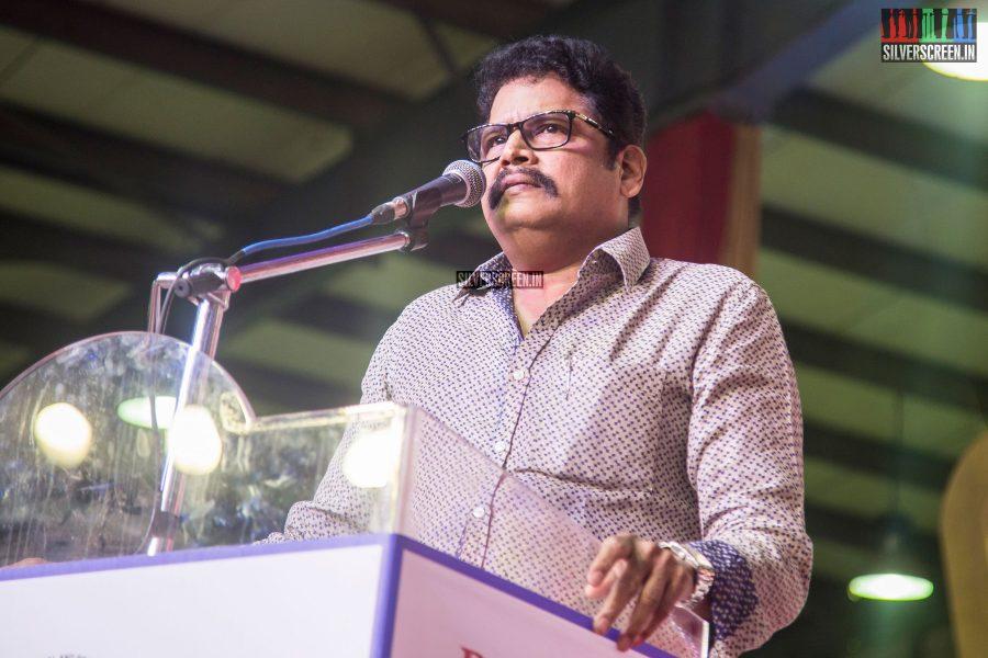 KS Ravikumar At The Inauguration of MGR Statue