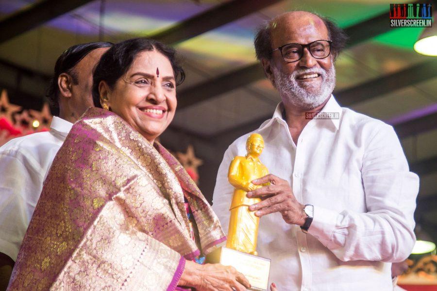 Rajinikanth At The Inauguration of MGR Statue