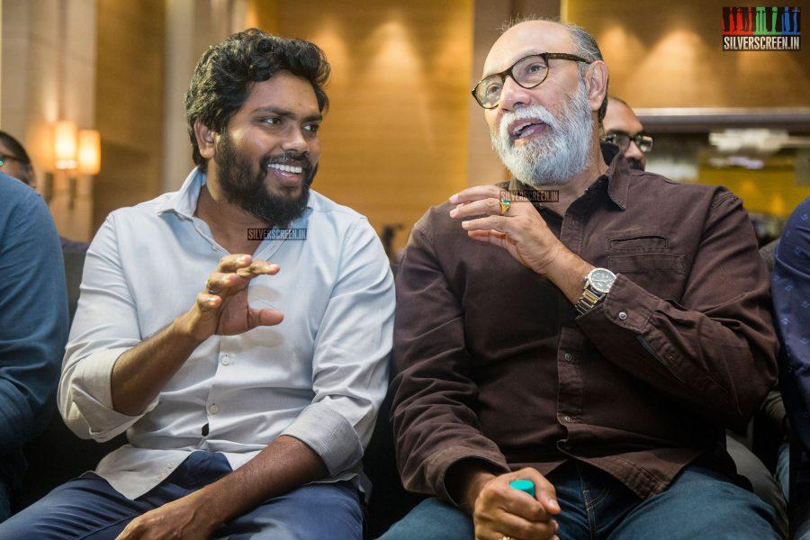 Pa Ranjith and Sathyaraj At The NOTA Press Meet