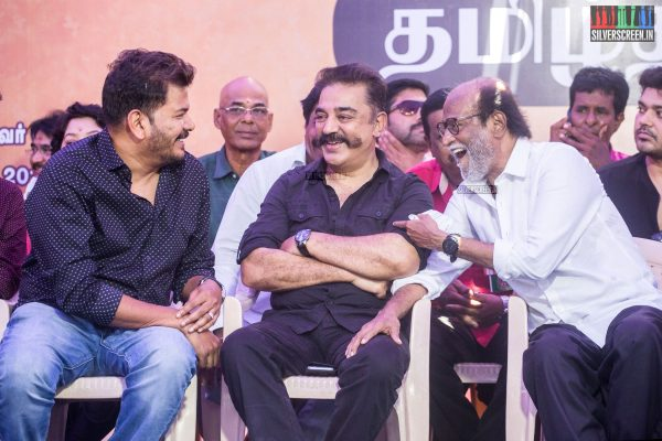 Kamal Haasan, Rajinikanth, Shankar At The Nadigar Sangam Protest