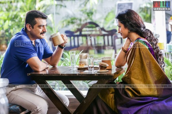 Actor Ajith and Trisha in Yennai Arindhaal Movie Stills