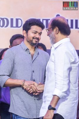 Rajinikanth, Vijay At The Nadigar Sangam Protest