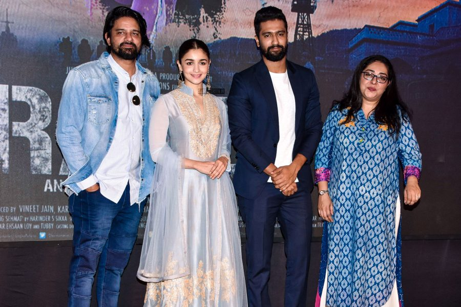Alia Bhatt, Meghna Gulzar, Vicky Kaushal At The Song Launch Of Raazi