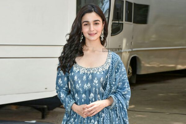 Alia Bhatt Seen In Anita Dongre Anarkali During The Promotions Of Raazi