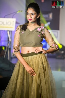 Krithika Anand At A Fashion Show By FIDA Design School