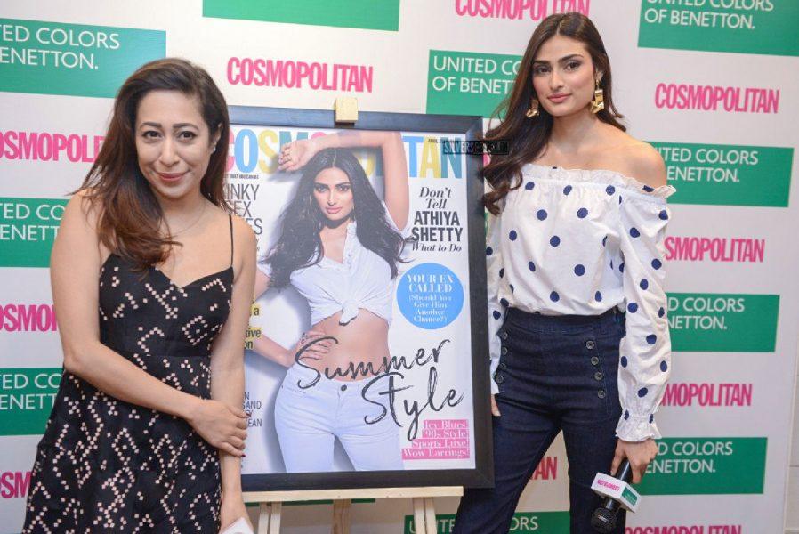 Athiya Shetty At Cosmopolitan's April Edition Launch In Delhi