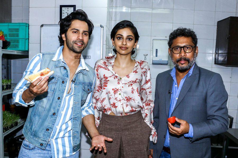 Banita Sandhu, Varun Dhawan During The Promotions Of October