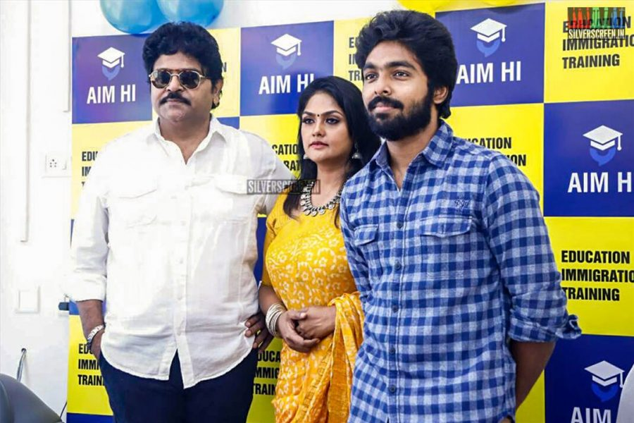 GV Prakash Kumar, Ramki & Nirosha At The Inauguration Of  'AIM HI' - An Education & Training Company
