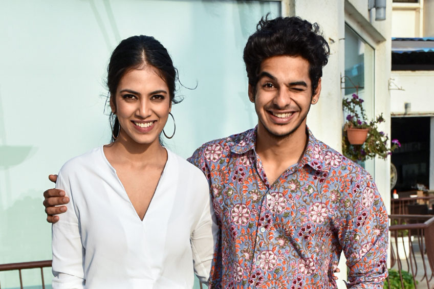 Ishaan Khatter And Malavika Mohanan At The Promotions Of Beyond The Clouds