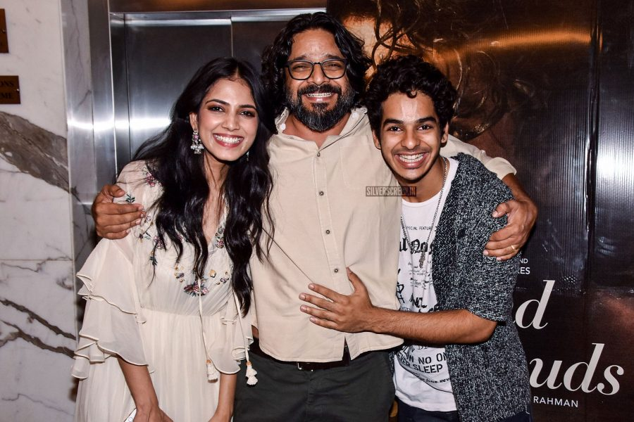 Ishaan Khatter, Balki, Malavika Mohanan At The Screening Of Beyond The Clouds