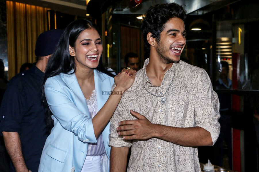Ishan Khattar, Malvika Mohanan At The Promotions Of Beyond The Clouds