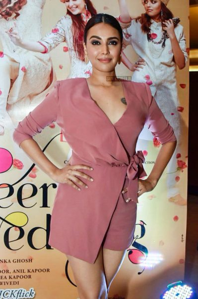 Swara Bhaskar At The Veere Di Wedding Trailer Launch