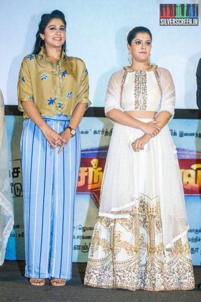 Regina Cassandra & Varalaxmi At The Mr. Chandramouli Audio Launch