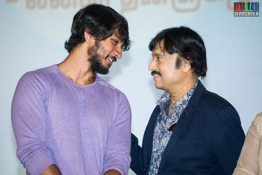 Karthik & Gautham Karthik At The Mr. Chandramouli Audio Launch