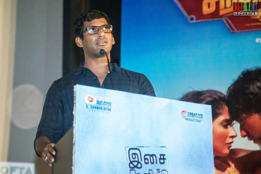 Vishal At The Mr. Chandramouli Audio Launch