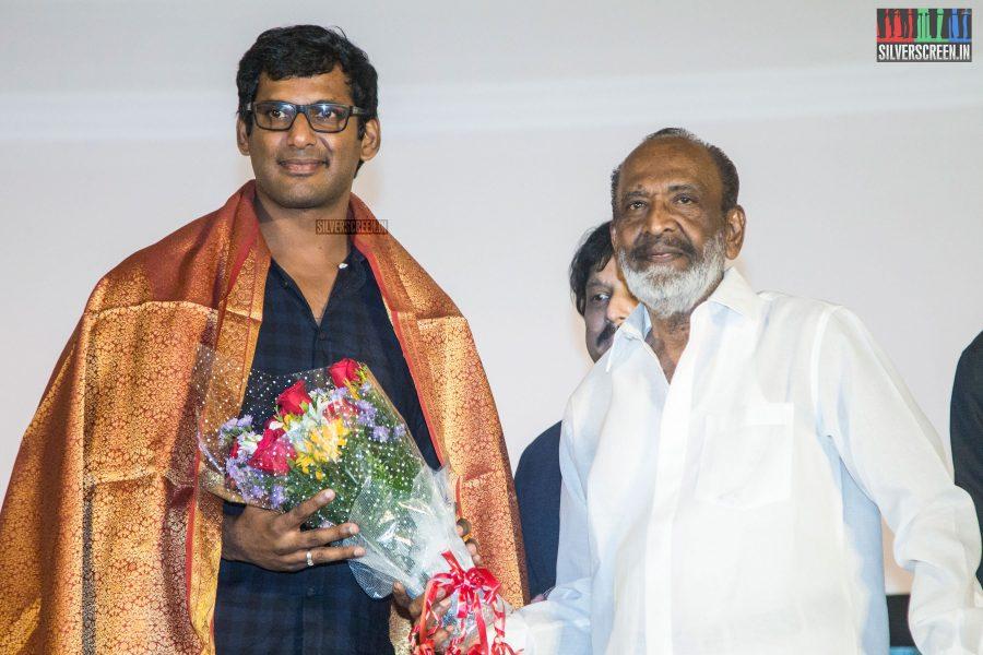Vishal & J Mahendran At The Mr. Chandramouli Audio Launch