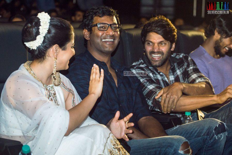 Varalaxmi, Arya And Vishal At The Mr. Chandramouli Audio Launch