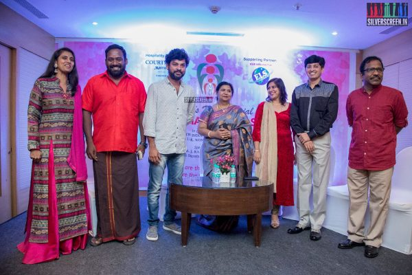 Charlie, Kasthuri And Robo Shankar At The Humanitarian Awards Ceremony